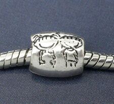 European charm BOY and GIRL large hole bead fits Bracelet / Necklace C119