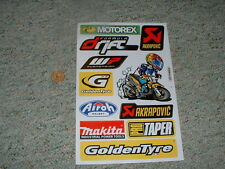 Decals / stickers R/C radio controlled Akrapovic Makita Goldentyre WP etc  G65