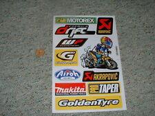 Decals / stickers R/C radio controlled Akrapovic Makita Goldentyre WP etc  G65