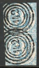 """Thurn and Taxis, Sc#48, used vertical PAIR, """"Offenbach"""", Mi CV 70 Eu, Germany,"""
