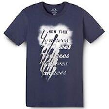Men's Oakley Stack NY Yankee's New York T Tee S/S Shirt Navy Blue Size Large