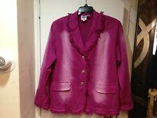 ladies Women's DG2 spring fall summer winter dress denim jean Jacket plus 1X new