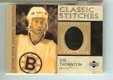 Joe Thornton 2002-03 Upper Deck Classic Portraits Game-Used Jersey