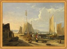 Harbor Scene in the Isle of Wight Vincent Inghilterra porto barche navi B a1 02050