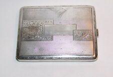 Antique Vintage Silver (800) Cigarette Box Case Czechoslovakia Hallmark Unique