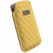 Krusell Avenyn Tasche für Apple iPhone 5 gelb L Long Etui Hülle Case Cover 95394