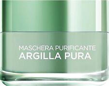 L'Oréal Paris Maschera Purificante Crema Viso Argilla Pura con Eucalipto 50 ml