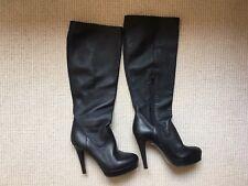 Marella, Lavorazione Artigiana Black Leather Boots, size 38