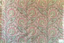 Beautiful 19th C. French Cotton Printed Paisley Fabric  (2698)