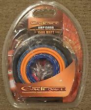 Cadence Wiring 4Ga 1500 Watt Head Unit Amplifier 2 Channel Pro Installation Kit
