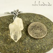 Quartz Crystal Point Keychain Keyring ''mba handmade'' Crystal Healing