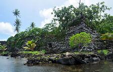 Enmarcado impresión-piedra antigua ciudad de Nan Madol (arte antiguo Aliens Foto)