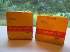 2 Kodak Kodachrome 40 Color Movie Film Type A Super 8 Cartridges  Exp. 76 & 77