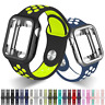Sports Band Loop W/ Screen Protector Case For Apple Watch 1 / 2 / 3 / 4 / 5 / 6