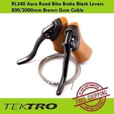Tektro RL340 Aero Road Bike Brake 800/2000mm Black Lever with Gum Hoods