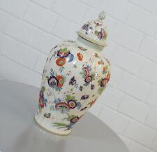 edle Thomas Avery MOUSON Vase Blumenvase mit Deckel Art Deco 40er Jahre US Zone