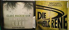 2 Hörbücher. Clare Mackintosh/Michael Connelly. Thriller. Krimi