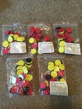 Lot of 5 Magnetic Two-Color Counters, Set of 40 Excellent condition