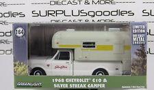 GREENLIGHT Hobby Only 1968 CHEVROLET Chevy C10 CHEYENNE w/Silver Streak Camper