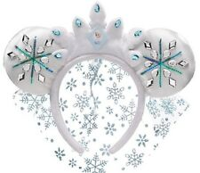 Disney Frozen Elsa Headband Veil Costume Halloween Mouse Ears Theme Parks New