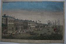 Optical view visionneuse feuille Londres schul thames cuivre clés 1780 bureau de douane