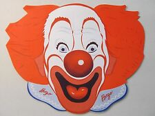 early 1950's BOZO CLOWN paper face mask with CAPITOL RECORDS ad on reverse. MINT