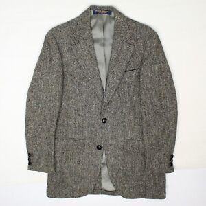 Brooks Brothers Brooksgate Mens Tweed Sport Coat 36R Gray Barleycorn Jacket