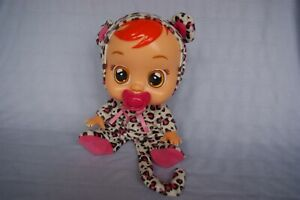 Cry Babies Doll. with Pink Leopard print outfit - tears and sounds - EXC CON
