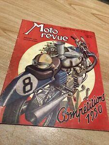Magazine Moto revue 988 1950 compétitions , moto à compresseur , champions etc
