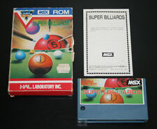 Super billiards game msx computer rom hal laboratory complete full sasfepu