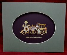 Union Pacific Railway 1870 Train Made From Watch Parts Art 8x10 Unframed Clock