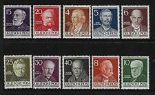 GERMANY Sc 9N84-93 NH ISSUE OF 1952 - FAMOUS PEOPLE