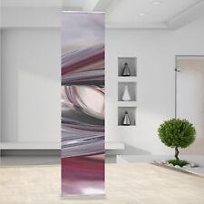 Raumteiler Vorhang Gardine Metall Silber Chrome Lila Burble Wirbel Abstrakt