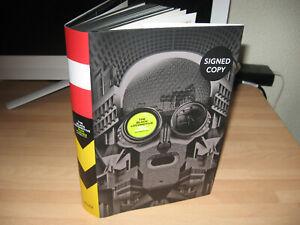 Rian Hughes The Black Locomotive Signed 1st graphic novel promo pins black edges