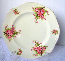 "James Kent Ltd Apple Blossom Salad Plate Pattern 1645 Pink Flower 7 7/8"" Dessert"