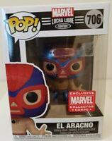 Funko Pop El Aracno  #706  Marvel Collector Corp  Spiderman New