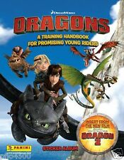 HOW TO TRAIN YOUR DRAGONS HANDBOOK ALBUM & 50 PACKETS OF STICKERS BRAND NEW