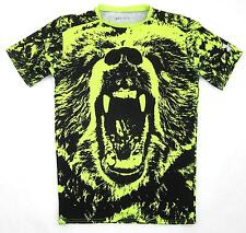 Under Armour 'Grizzly' Short Sleeve Compression Shirt Neon Yellow Black Sz XL