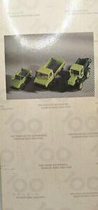 """Wiking Set 1:87 Jubiläumspackung """"100 Jahre Automobil Mercedes Benz Unimog Trac"""