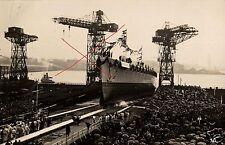 16321/ Originalfoto 9x13cm, Stapellauf Panzerschiff Admiral Scheer, 1.4.33