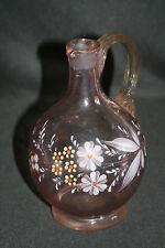 ancienne petite cruche Legras verre soufflé émaillé art nouveau fin XIX ème