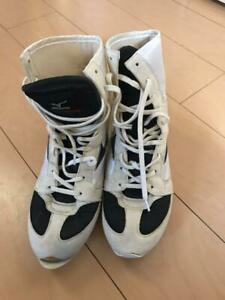 Mizuno Boxing Shoes White × Black made in JAPAN US8 / UK7.5 / 26cm pre-owned