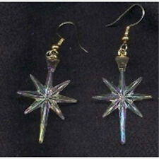 Christmas NORTH STAR EARRINGS Faux Crystal Charm Faith Holiday Costume Jewelry