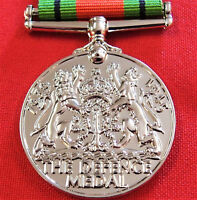 WW2 THE DEFENCE MEDAL RIBBON MEDAL REPLICA MEDAL FOR DISPLAY OR MOUNTING ANZAC