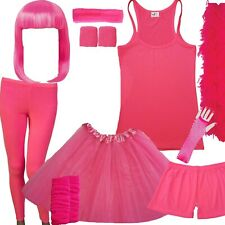 Pink Tutu Skirt Ladies 80's Race Run for Life Fancy Dress Hen costume outfit