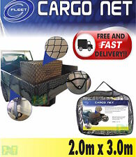 CARGO NET UTE TRAILER BOAT 2.0m x 3.0m BUNGEE CORD 35mm SQUARE MESH SAFE LEGAL