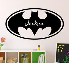 Batman Custom Name Wall Decal Comics Vinyl Sticker Kids Playroom Ideas 40(nse)