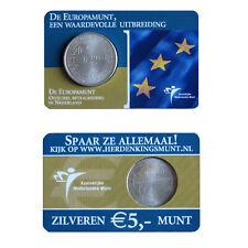 5 EURO Silber Niederlande Coincard Europamunt Beatrix 2004 - extrem selten !