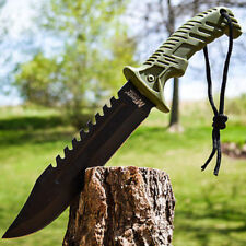 """13"""" TACTICAL SURVIVAL Rambo Hunting FIXED BLADE KNIFE Army Bowie w/ SHEATH"""