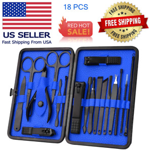 Manicure Pedicure Nail Care Set Cutter Cuticle Clippers Kit Case/ Grooming set